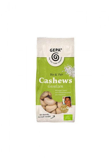 Bild von Bio-Cashews gesalzen