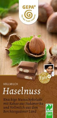Bild von Haselnuss Bio Vollmilchschokolade
