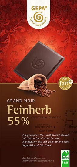 Bild von Bio Feinherb Schokolade 55%