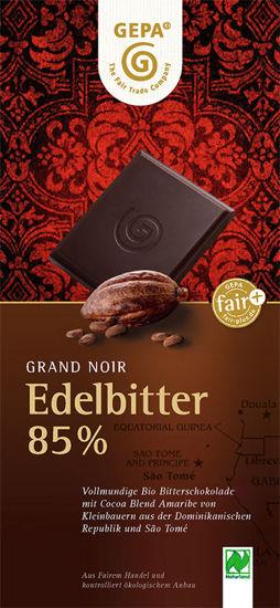 Bild von Bio Edelbitter Schokolade 85%