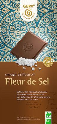 Bild von Fleur de Sel Bio Vollmilchschokolade
