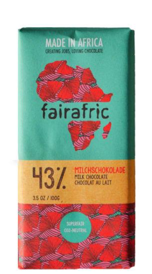 Bild von Fairafric Milchschokolade 43%