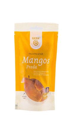 Bild von Mangos, getrocknet in Streifen