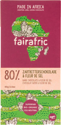 Bild von fairafric Bio-Zartbitterschokolade 80% Fleur de Sel