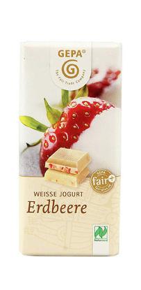 Bild von Bio Weiße Erdbeer Schokolade