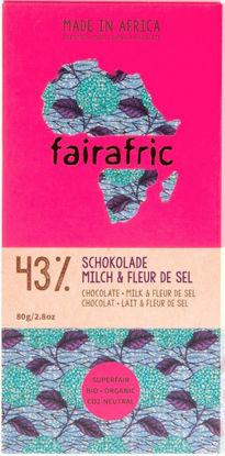 Bild von fairafric 43% Bio-Schokolade mit Milch und Fleur de Sel